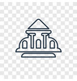white house concept linear icon isolated on vector image