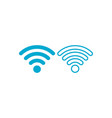 wifi or wireless iconinternet network storke vector image vector image