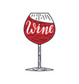 wine simple vector image