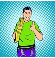 Rock Climber comcept comics style vector image