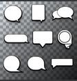 modern halftone bubble speech icon set vector image