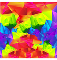 Abstract background colorful triangle polygonal vector image vector image
