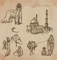 Afghanistan Hand drawn pack no1 vector image