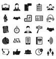 airing icons set simple style vector image vector image