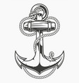 an anchor with rope vector image vector image
