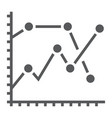 analytics graph glyph icon development vector image vector image