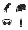 animal clothing and or web icon in black style vector image vector image