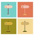 assembly flat icons school sign vector image vector image