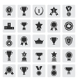 Big set of black award success and victory vector image vector image