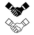 black handshake icon vector image
