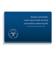 blue business card icon realistic style vector image