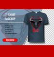 bull head layout editable template vector image vector image