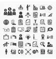 Business icons and Finance vector image vector image