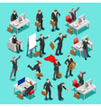 Business Set Isometric People vector image vector image