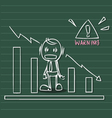 business warning vector image vector image