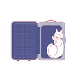 cat sleep in suitcase vector image