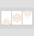 chic geometric card set vector image
