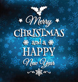 christmas and new year background 2509 vector image vector image