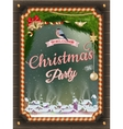 Christmas Poster with village EPS 10 vector image vector image