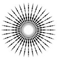circular motif element radial dotted lines with vector image vector image