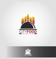 city food restaurant logo template vector image