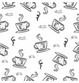 coffee hand draw style doodles vector image vector image