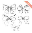 collection black line bow sketch style vector image vector image