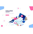 college web page banner template vector image vector image