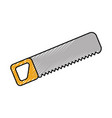 construction saw carpentry tool metal wooden vector image vector image
