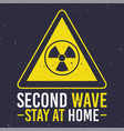 covid19 second wave lettering campaign with atomic vector image vector image
