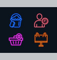 delete order time management and sponge icons vector image