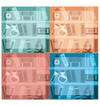educational background collection vector image vector image