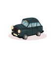 flat icon of london taxi classic black cab vector image