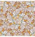 Floral ornamental pattern in for coloring vector image vector image