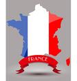 France flag map vector image