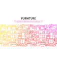furniture flat concept vector image
