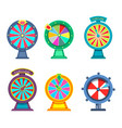 gambling wheels of fortune or roulette for casino vector image vector image