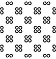 geometric pattern seamless background black vector image vector image