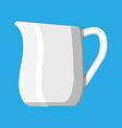 glass jug pitcher for fresh milk vector image vector image