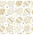 hand drawn easter seamless pattern pattern with vector image vector image