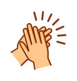 hands clapping icon applause gesture vector image vector image