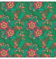 Indian floral seamless pattern vector image vector image
