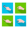 isolated object of touchscreen and hand logo vector image