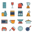 Kitchen appliances icons flat vector image vector image