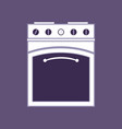 kitchen stove isolated household kitchen vector image