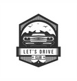 lets drive club badge vector image