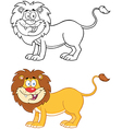 Lion Mascot Character Collection vector image vector image