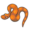 long crawling snake or boa vector image