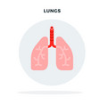 lungs a man in a gray circle flat isolated vector image vector image