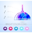 luster icon with infographic elements vector image